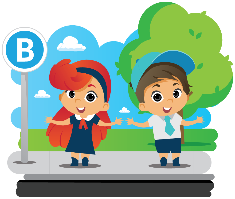 bus education program characters