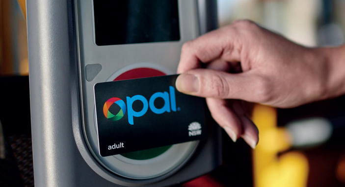 Opal Card being used on bus