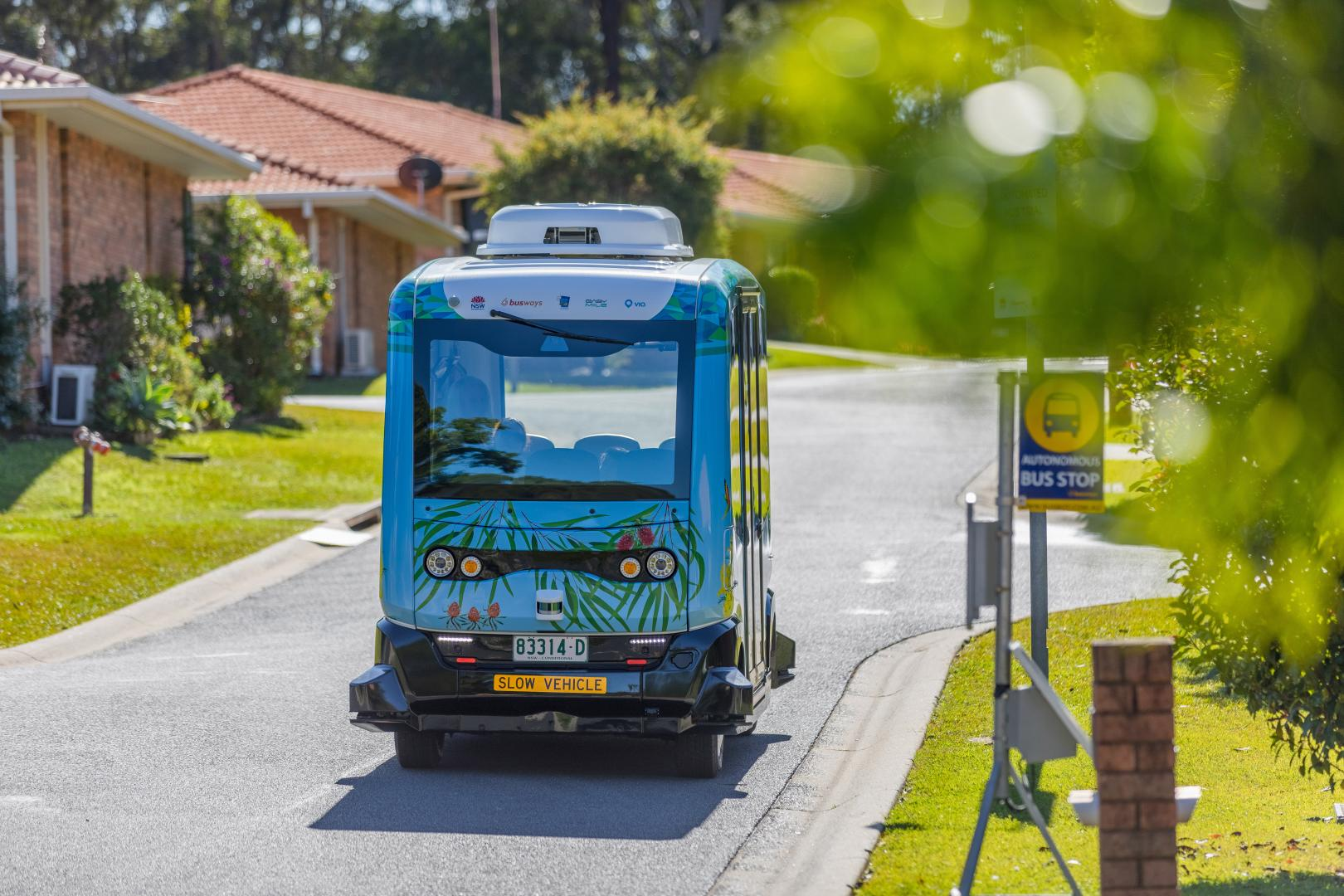 BusBot in Marian Grove Retirement Village
