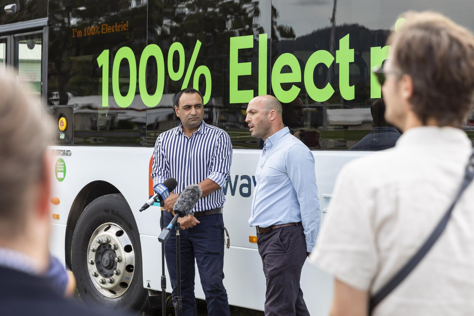 Coffs Harbour MP Gurmesh Singh with Busways Special Projects Manager Timothy Reid