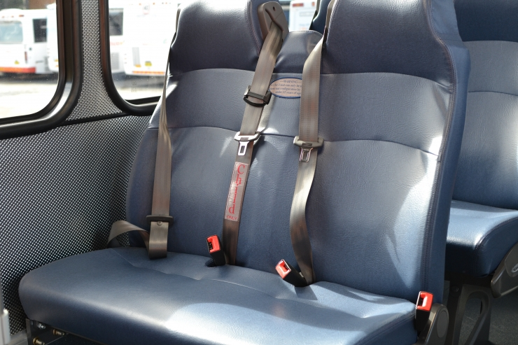 seat belt-fitted buses