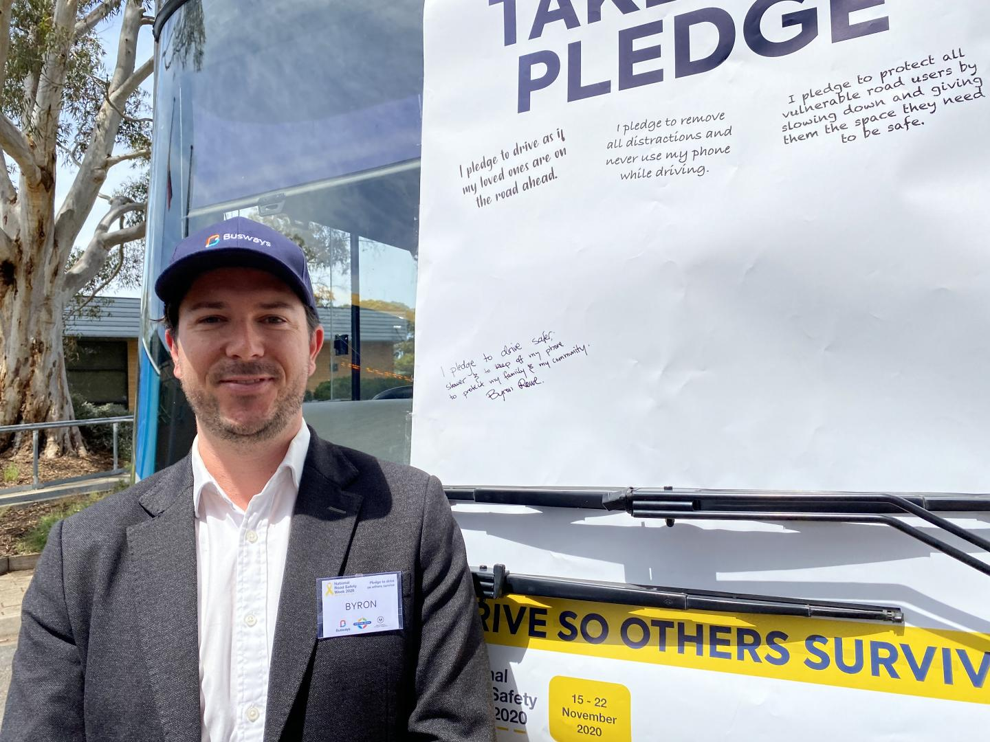 Busways Managing Director Byron Rowe took the Pledge in South Australia