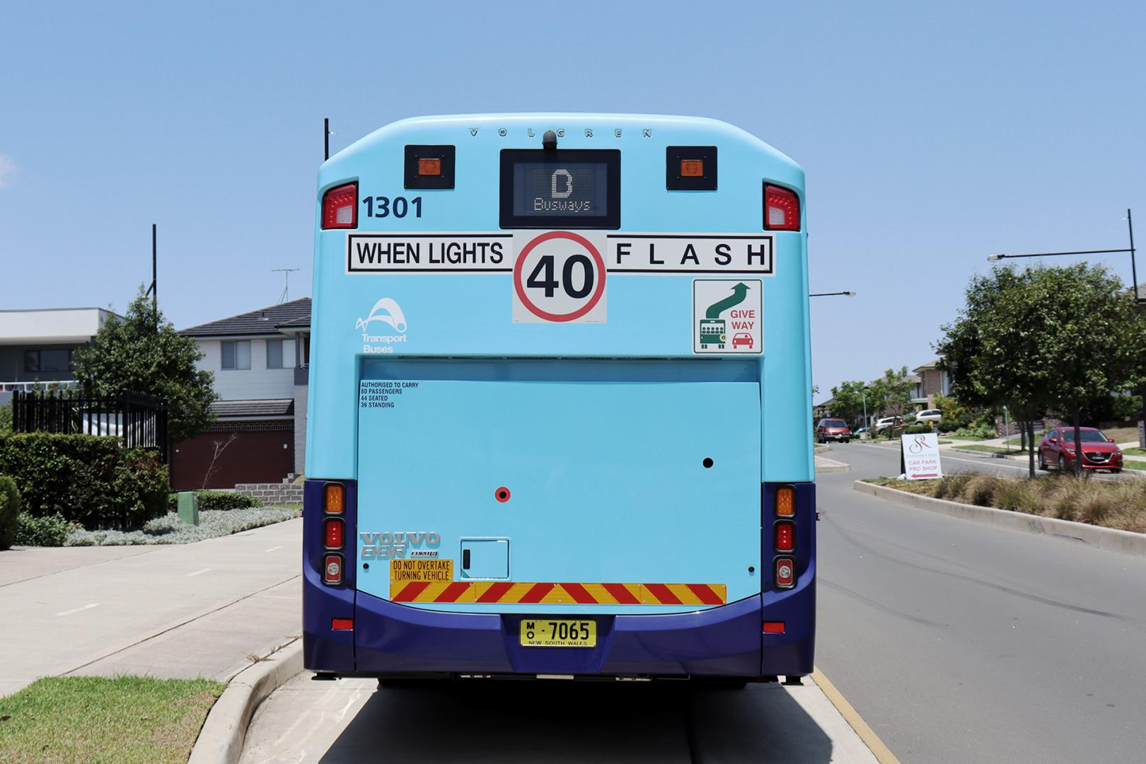 Drivers are reminded to slow down to 40km/h when bus lights flash.